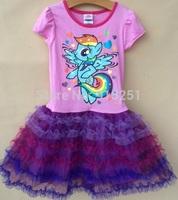 2014 New Fashion my little pony girls kids short sleeve summer dress4-6Y girls tutu dress