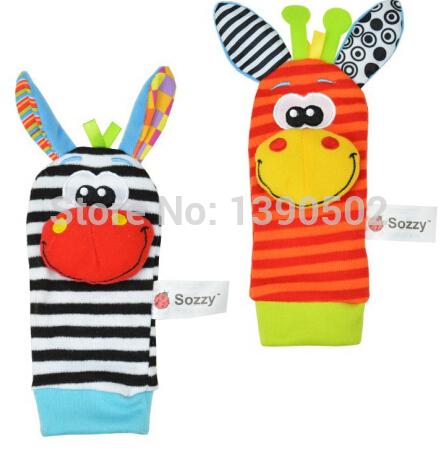 2014 oferta especial de venda Sozzy brinquedos ! Oferta specical promoção música brinquedos de pelúcia Jardim Rattle Bug pulso e Meias Pé 4 unidades / lote(China (Mainland))