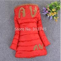 -40c  2014 brand Girls down coat down jacket winter children outerwear coats jacket  Down Parkas for girls 140 150 160 AV011