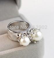 The new 2014 fashion natural pearl joker ring free shipping 4pcs/lot