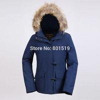 wholesale  women's short down coat outdoor warm wool jacket wool rich down coat
