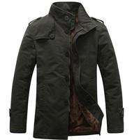 2014 New Arrival Korea Style Thicken Cotton Jacket Khaki\Black\Army green Free Shipping MWJ111 Down & Parkas