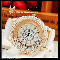 Fashion Women Dress Watches Ladies Quartz Clock Leather Strap Women Rhinestone Watches Casual Wristwatch Relogio Feminino