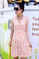 Fashion New 2014 women summer tops Fashion Dress woman black clothings free shipping LYQ008-18