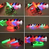 100Pcs/Lot Lovely Bear LED Small Dog Collars Puppy Flashing Collars Dog Safety Collars Free Shipping