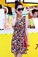 2014 New Fashion Summer free shipping many flower beautiful women dress LYQ008-20