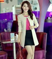 Fashion Women Slim Trench Coat Outwear 2014 New Ladies Stylish blazer feminino suit jacket 4 Colors available S M L XL XXL