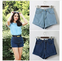 Promotion Lady Denim Shorts,Women's Jeans Shorts,Hot Sale Ladies' Short Pants Plus Size Free Shipping denim jeans Tall Waist