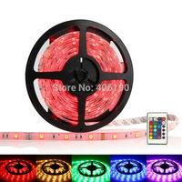 SMD 5050 300LED Waterproof RGB flexible LED Strip Rope Light 12V +24 key IR controller 500M/lot