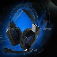 Brand New Saling Sades SA709 Headband Professional Game Headphone Gaming Headset Stereo Earphone with Mic,free shipping
