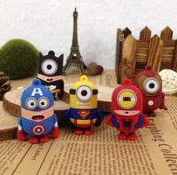 10pcs/lot! Free ship Super hero America captain/Bat man/Iron man minion usb flash drive 2.0 memory flash stick pendrive Genuine