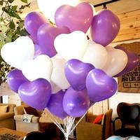 Balloon romantic heart love balloon married divisa 100 1 powder glue 1 pump