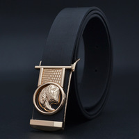 The trend of fashion strap  classic black belt  Both men and women all-match strap