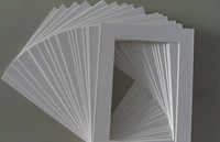 Pre-cut Mats Matboard  White with Cream Core ,Opening: 320x420mm - 60mm wide - Qty100/pack,free shipping