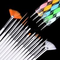 20pcs Professional Nail Art Styling Tools Acrylic Nail Brush Set Design Painting Pen Perfect Tools for Natural Pincel De Unha P