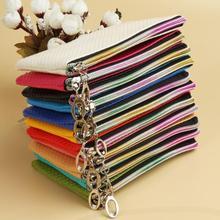 moda portafogli colore della caramella delle donne cerniera borsa dei soldi a portata di mano monete carte cambiamento telefono bag 8 colori BG-03586(China (Mainland))