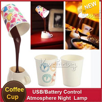 Hot Sale Two Usage USB/battery control  led  fashion gift concept night  lights table lamp night Atmosphere  lamp