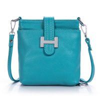 2014 new summer crossbody bag / 5color / genuine leather small size 21*23 cm , lady messenger shoulder bags free shipping H135A