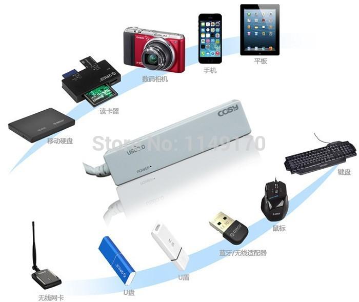 2014 new product portable usb 3.0 hub 4 ports usb 3.0 hub 2.0 hub lot usb port extension free shipping(China (Mainland))