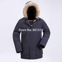 2014 new stylw men down coat wool rich men warm down jacket
