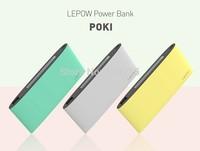 2014 NEW Lepow 10000mah Power Bank Lepow Poki 10000 Backup Powers Mobile Powerbank External Battery free shipping fast delivery.