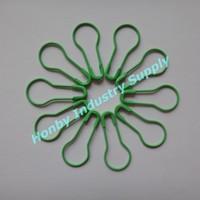 2000pcs/lot DHL or TNT Free Shipping 22mm Fresh Green Color Metal Pear Pin