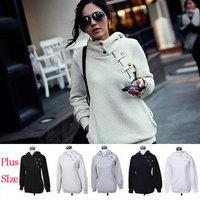 2014 New Hot High Collar Women Jackets Women's Sweatshirt Dust Coat Hoodies Clothes Cotton Jacket Wholesale WWW099