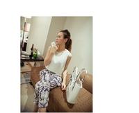 8402-L05-P40 2014 Miss Xia Hanban casual floral chiffon jumpsuit piece pants
