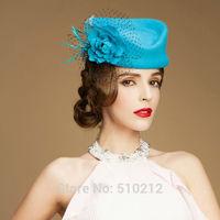 PARIS original elegance top grade 100% wool flower mini top hats for women mini top hat  fascinator