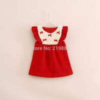 NEW ! Girls autumn fashion bow dress , baby girl dresses , 6pcs/lot   YS102