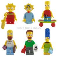 The Simpsons Figures 6pcs/lot Classic Toys Building Blocks Sets Model Bricks Minifigures Toys For Children
