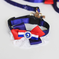 Fashion New High quality Pet bowknot England style pet dog collars&leads dog lead leash cool harness belt rope