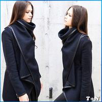 2014 New Autumn Winter women coat casual women jacket long trench coat