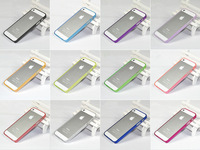 Free Shipping!!Ultra Thin Frame Bumper for iphone 5S, Slim Soft Flexible Hard Case Bumper For iPhone 5S  5