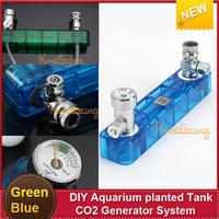 NEW Fish tank Accessory Green/Blue DIY Aquarium planted Tank CO2 Generator System