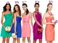 2014 Custom Made Cheap Free Shipping A-Line Sexy Strapless Backless Mini-Length Pleat Chiffon Prom Gown Bridesmaid Dresses