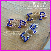 30pcs/lot Jewelry Bracelet connector, Society Union letter Rhinestone SGRHO Sigma gamma rho for jewelry bracelet DIY