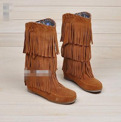 2014 femininas botas militares knöchel schneeschuhe nubukleder mode quaste stiefel frauen plus size stiefel teenis schuhe im winter