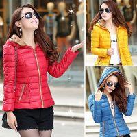 Plus size L,XL,XXL,XXXL 2014 new winter women's coat high quality short down jacket warm down parka coats hooded 873