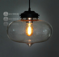 Modern brief crystal bubble stalactites pendant light encluding ST64 edison blub