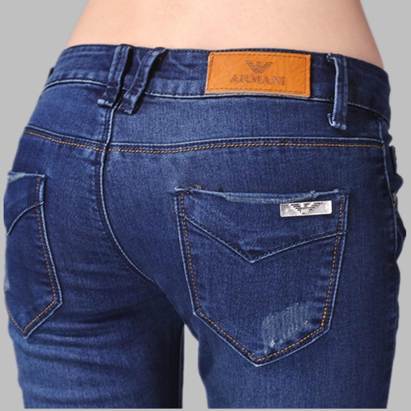 Neuen 2014 frauen modemarke jeans-designer marke damen hose dunkelblau hose gerades bein kd6