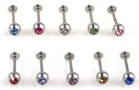 10x Bulk Stainless Steel Lip Chin Labret Ring Bar Stud Tragus Ball Body Piercing BB25-ka