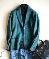 color block buckle wool border compression suit women outwear