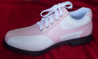 2014 Summer Women's Shoes Leather Pink white Golf Shoes With Waterproof Breathable Shoes Free Shipping