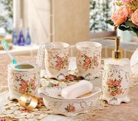 European Style Ceramic Five-piece Bathroom Set Luxury  Bathroom accessories suit Free Shipping