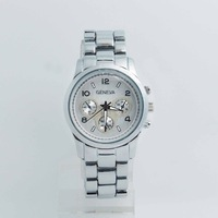 High Quality Geneva Brand Stainless Steel Watch Men Women Ladies Japan Movement Dress Quartz Wrist Watch G-2