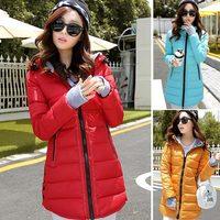 Plus size L,XL,XXL 2014 new winter women's coat high quality long coat down jacket warm down parka coats hooded 962