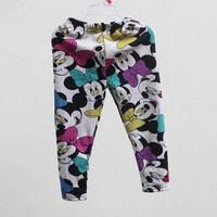 wholesale girls autumn winter new arrival cartoon  pants kids skinny warm fleece  leggings boot cut 523