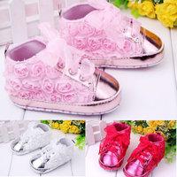 Flower girl shoes sapatos de bebe 2014 tenis bebe menina  sapatilhas baby pink white and rose chaussure bebe girls free shipping