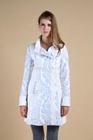 2014 women white irregular printing casual wear coat ultra-value